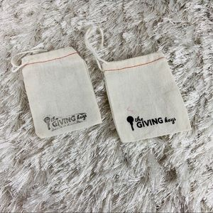 """The Giving Keys Dust Bags x 2 approx 3"""" x 4"""""""